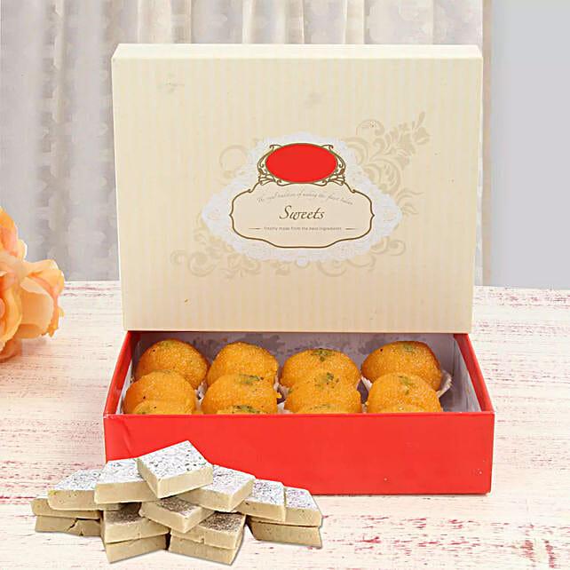 Moti Choor Laddoo With Kaju Katli Combo Birthday Gift Delivery In Singapore