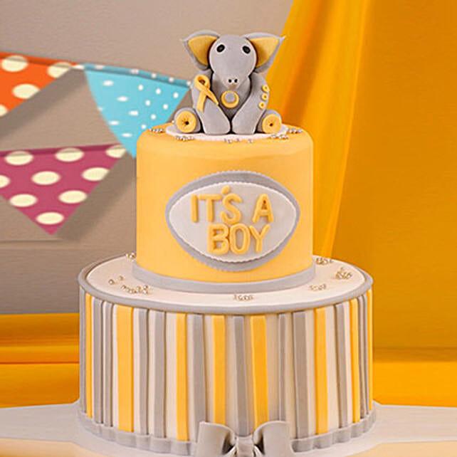 Baby Shower Elephant Theme Cake 5 Kg: Designer Cakes in UAE