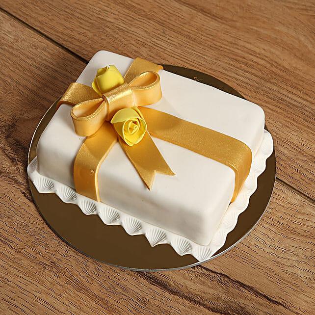 Designer Gift Wrapped Mono Cake Send Cakes To UAE