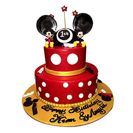 Minnie and Mickey Mouse Cake: