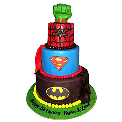 Superheroes Revisited Cake: