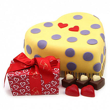 Hearts And Dots Cake Gift Birthday Delivery London