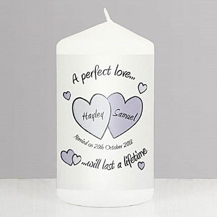 Perfect Love Personalized Wedding Candle Birthday Gifts For Him UK