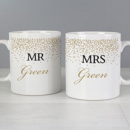 Personalised Gold Confetti Mug Set: Father's Day Presents to UK