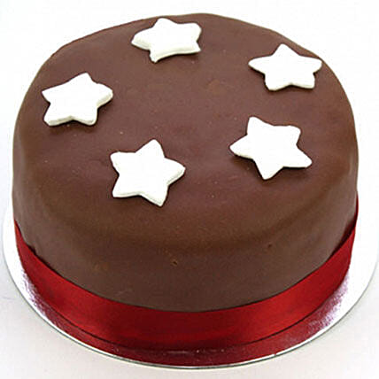 Chocolate Star Cake Egg Free: Birthday Cake Delivery in UK