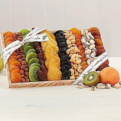 Gourmet Dried Fruit and Nut Collection: Send Karwa Chauth Gifts to USA