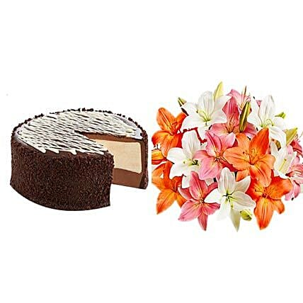 Cake And Flower Delivery In New Jersey Same Day Birthday Gift Fruit Chocolate Cakes