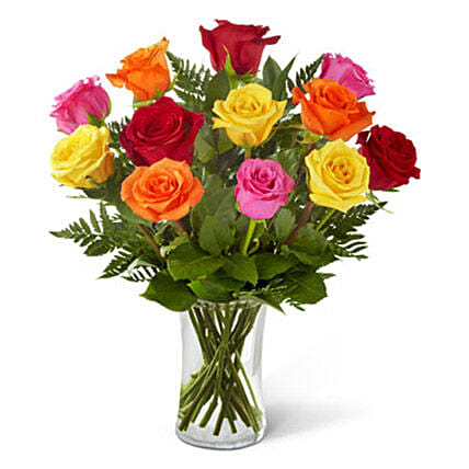 Sweetheart Mixed Rose Bouquet: Send Roses to USA