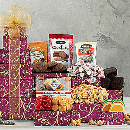 Chocolate and Sweets Tower: Gift Basket Delivery in USA