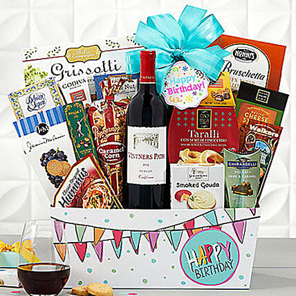 Vintners Path Cabernet Birthday Collection Gift Basket Delivery In USA