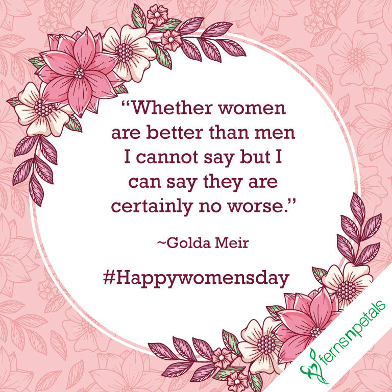 20 Womens Day Quotes Wishes And Messages Ferns N Petals