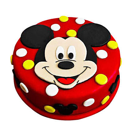 Mickey Mouse Cartoon Cake for Birthday 1kg