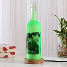 Shining Memory Lamp-1 green colored personalized bottle lamp